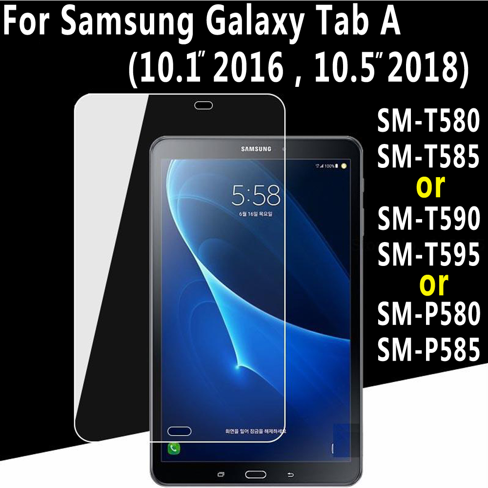Tempered Glass for Samsung Galaxy Tab A A6 10.1 2016 10.5 2018 T580 T585 SM-T580 SM-T585 P580 P585 T590 T595 Screen Protector