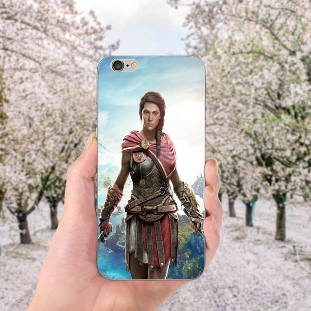Soft TPU Silicone Cell Phone Cases for iphone X Case Back Cover for iphone 6S 7 8 Plus 4 4S 5 5S SE Bags Assassins Creed Odyssey 4