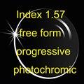 Índice 1.57 forma gratis progresiva con photochromic transición ( UV400 ) HMC anti reflejo y anti-arañazos