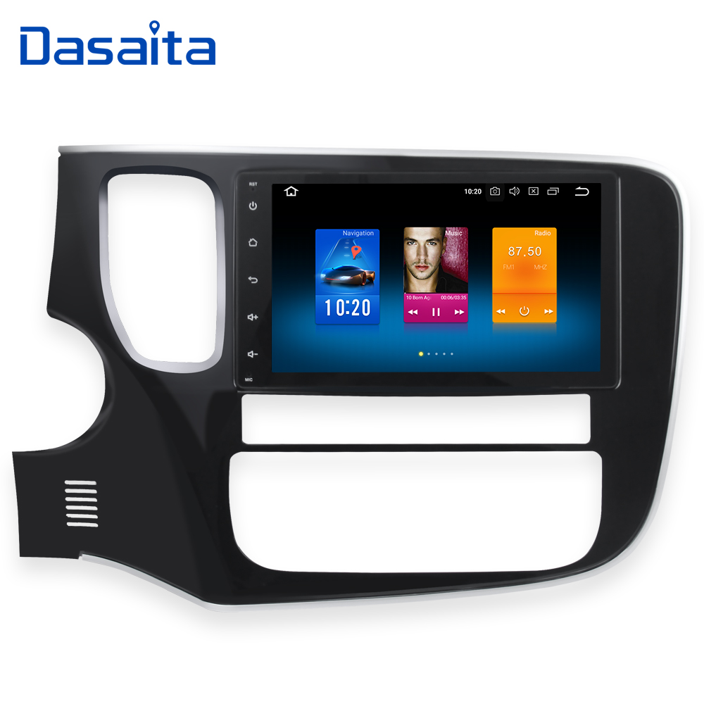 Dasaita 8 Android 8.0 Car GPS Radio Player for Mitsubishi Outlander 2014-2016 with Octa Core 4GB+32GB Auto Stereo Multimedia