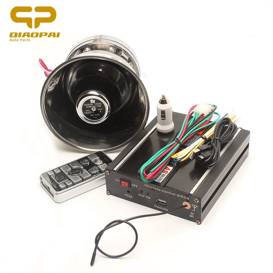 Buy 1set Universal 200w Horn 9 Sound Siren Warning Multitone 12v Loud Car Alarm Super Waring Megaphone Loudspeaker Claxon