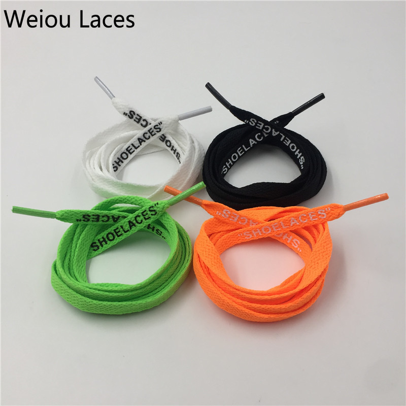 (30Pairs/Lot)Weiou Flat Single Layer Shoelaces With Double Printed