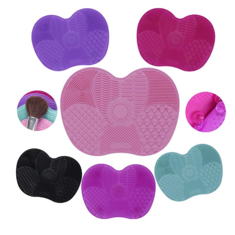 Najnowszy silikonowy czyścik do pędzli kosmetyczne Make Up mycie pędzel żel mata do czyszczenia fundacja makijaż szczotka do czyszczenia podkładka Scrubbe pokładzie