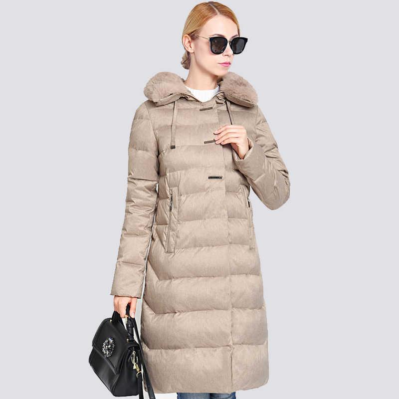 2019 новая зимняя куртка для женщин; Большие размеры меховой воротник длинные Женское зимнее пальто Толстые Высокое качество Теплый пуховик куртка-парка верхняя одежда
