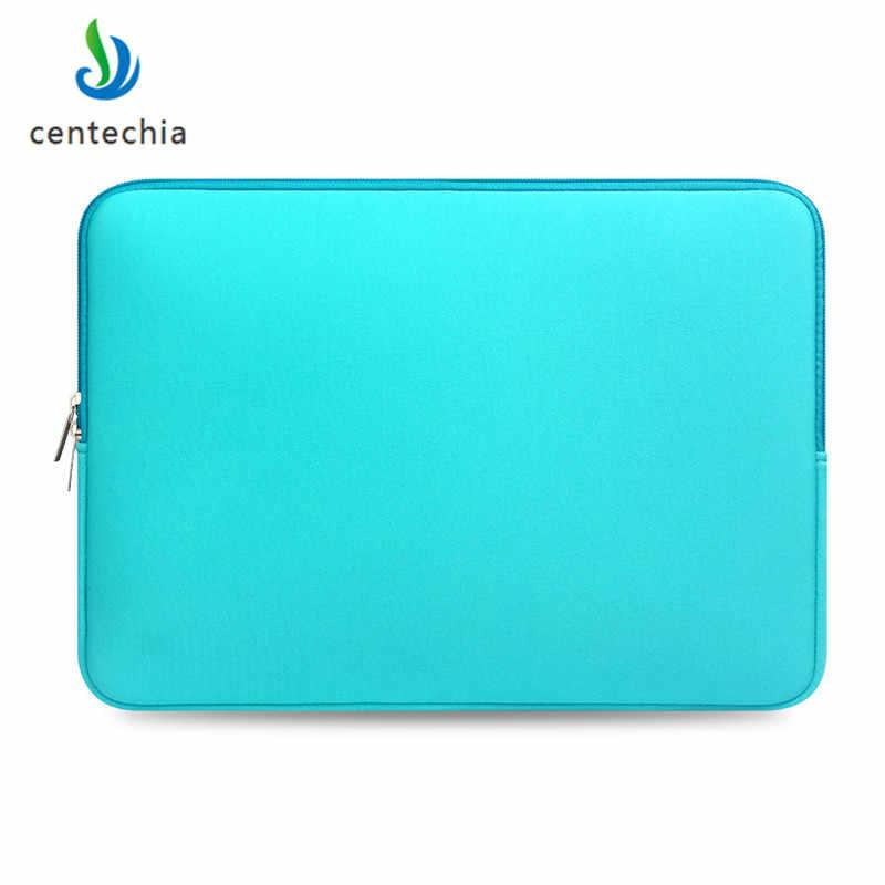 Estojo de computador portátil com zíper, para macbook, laptop, air pro, retina 11, 12, 13, 14, 15, 13.3, 15.4 e 15.6 polegadas bolsa da barra do toque do caderno