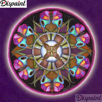 "Dispaint Full Square/Round Drill 5D DIY Diamond Painting ""Mandala scenery"" 3D Embroidery Cross Stitch 5D Home Decor A12142"