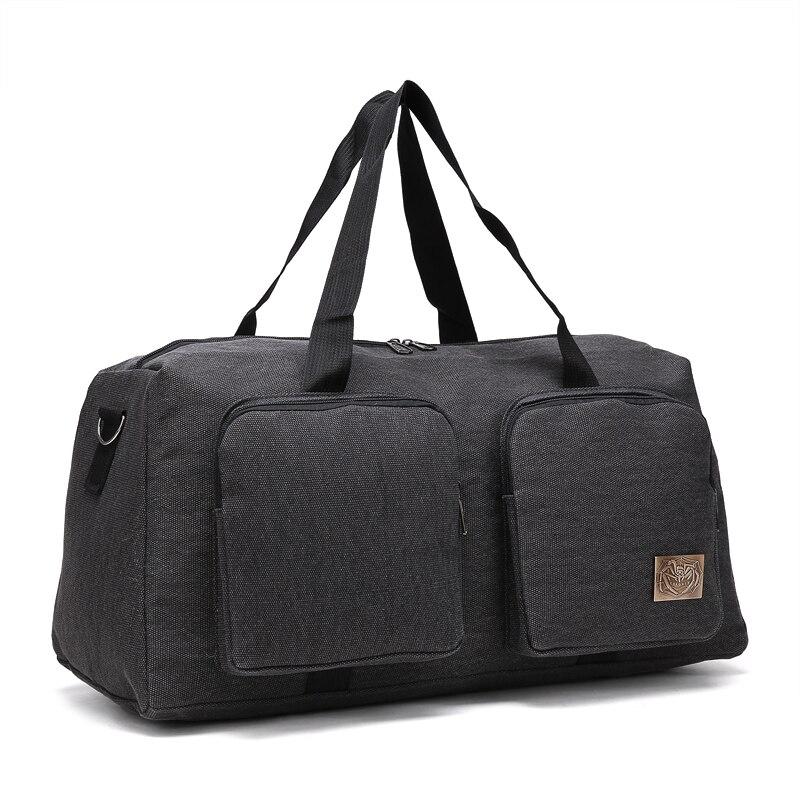 Grey Custom Durable Canvas Travel Luggage Bag Duffle Bag