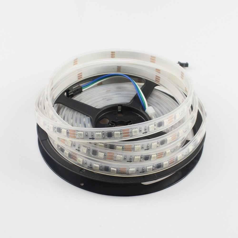 Ws2811 ledピクセルストリップdc12v 30 leds/m 5メートル/ロールデジタル血統rgbフルカラー防水ip67個別にアドレス指定可能なledライト