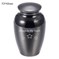 2.8*1.7 Inch Pet/Menselijk Ashes Urn Grote Ruimte Aandenken Voor As Sieraden Gedenkteken Urn Funeral Kist Urn gratis Fluwelen Tas