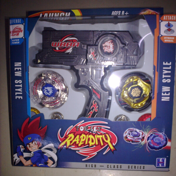 1pcs New Clash Beyblade Metal Fusion Plastic Beyblade Spinning Tops