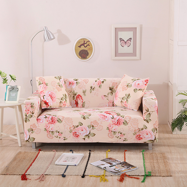 Flowers Universal Stretch Sofa Covers For Living Room Elastic Covers ...