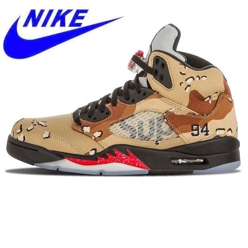 competitive price 5c96b a5728 Original Nike Air Jordan 5 Retro Men s Basketball Shoes Sneakers,Outdoor  Damping Shoes 824371 201