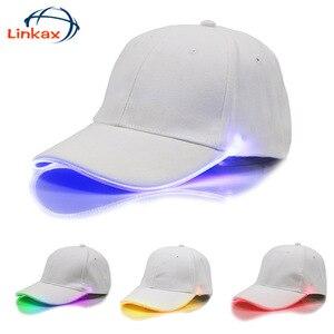 Image 2 - Adjustable Bicycle 5 LED Headlamp Cap Battery Powered Hat With LED Head Light Flashlight For Fishing Jogging Baseball Cap