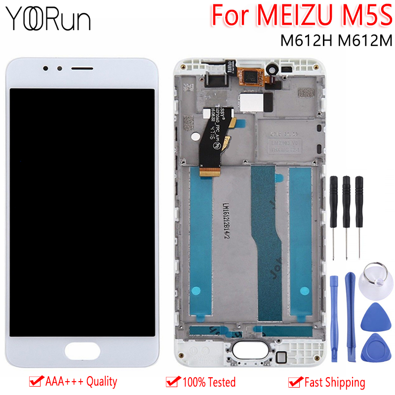 LCD Frame Replacement Touch-Screen Lcd-Display M612H Meizu M5s Original Digitizer-Assembly