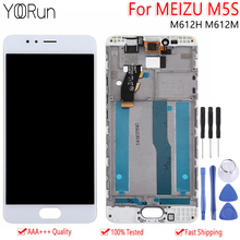 5.2 Original LCD+Frame For Meizu M5S M612H M612M LCD Display Touch Screen Digitizer Assembly MEILAN 5S Replacement