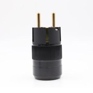 Image 1 - 2 stück stil 24k Gold überzogene EU stecker hifi schuko Power anschlüsse
