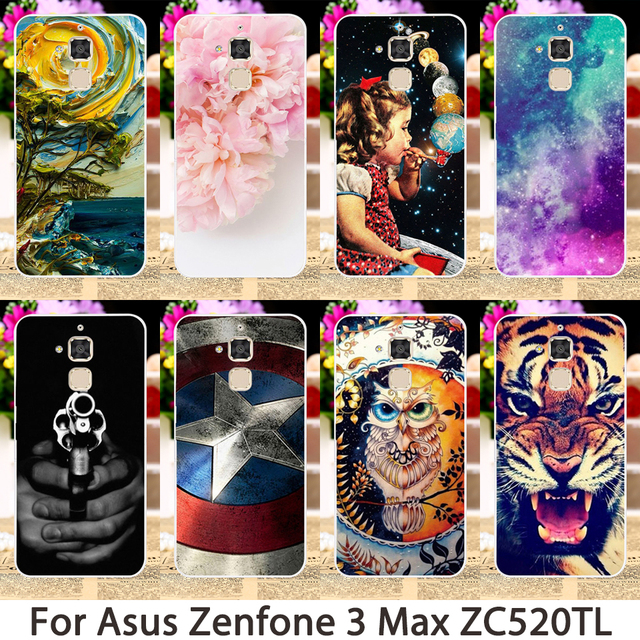 TAOYUNXI Soft Phone Cases For Asus Zenfone 3 Max ZC520TL X008D Pegasus 3 Zenfone horse 3 X008 Pegasus3 Case Animals Flowers