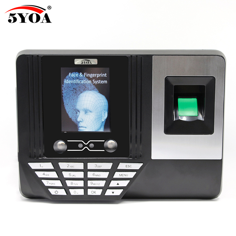 5YOA AF3 Biometric Face Facial Fingerprint Recognition Time Attendance System Machine Device стоимость