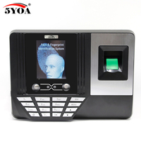 5YOA AF3 Biometric Face Facial Fingerprint Recognition Time Attendance System Machine Device