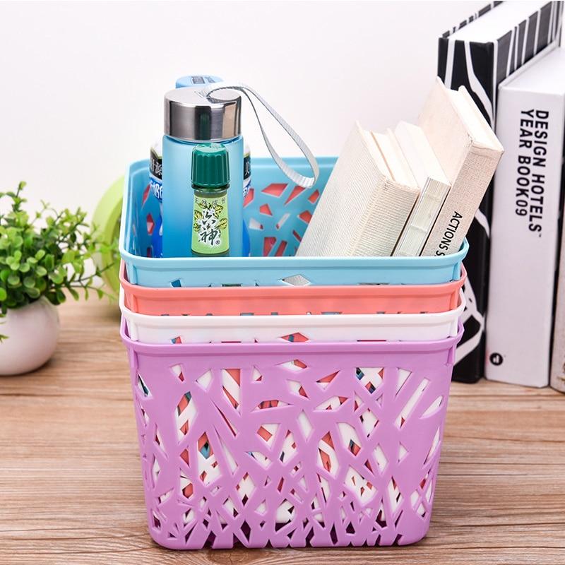 creative plastic sundries storage basket organizer home