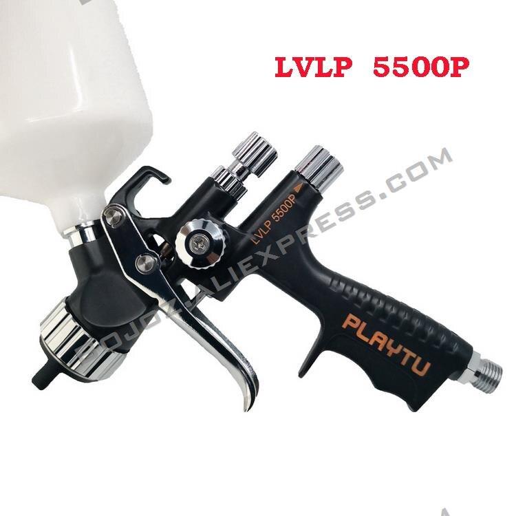 New Black T-5500P LVLP Pistol Environmental Protection Spray Gun W/t Tank Car Paint Repair Spray Sprayer Gun