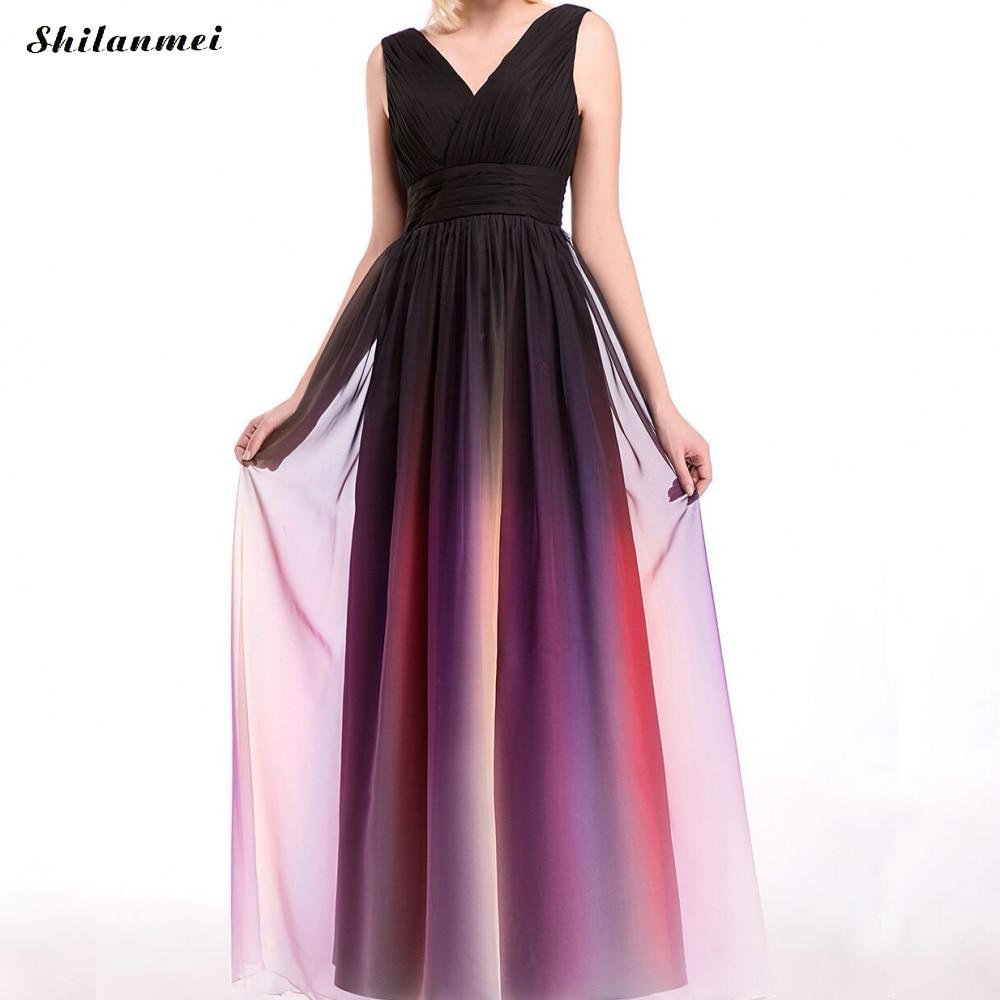 Cou Couleur Robes Vintage Nu Taille La 3xl Élégante Robe Femme Sexy De V Mode Gradient Longue Dos Soirée Plus 4xl qwftPx