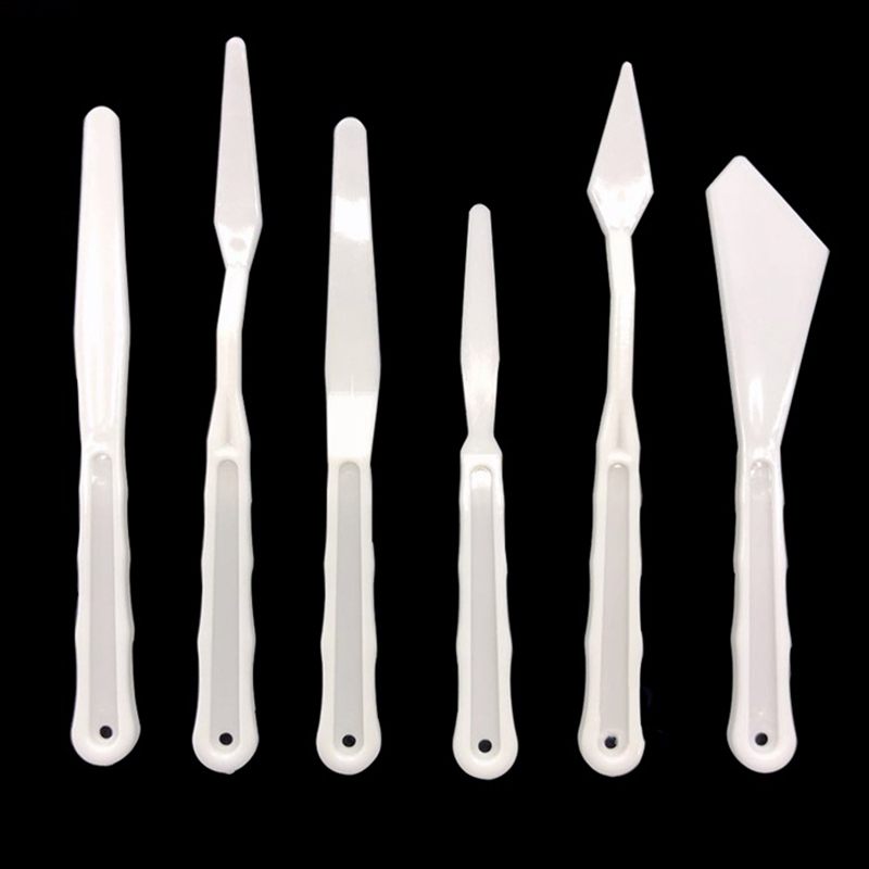 5Pcs/Set Portable Plastic Spatula Kit Palette Knife For Oil Painting Students Professional Oil Painting Tools Painting Knife