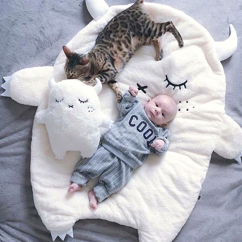 Baby Little Devil Blanket Newborn Infant Bath Towel Baby Swaddle Children's Bedding Towels Baby Sleeping Blanket 95*105cm