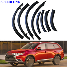 1set Car Wheel Eyebrow Protection Front Rear Bumper Fender Protector Car Styling for Mitsubishi Outlander 2016-2017