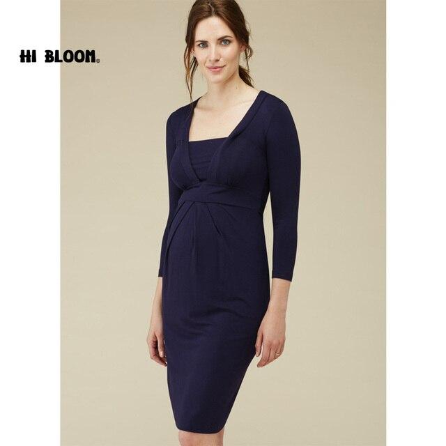 4a3adadd504 Regalos marca vestido de fiesta de noche para mujeres embarazadas elegante  Oficina señora Vestidos maternidad ropa