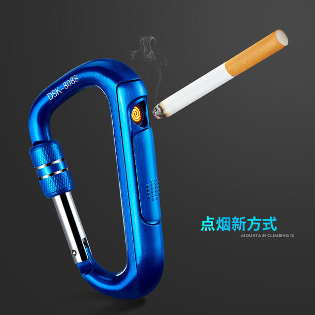 USB Safety Buckle Electronic Lighter Portable Metal Cigarette