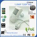1.0MP 720P Poe IP камера ночного видения 940nm инфракрасный Kamera IR POE PIR стиль детектор движения ONVIF IR led мини IP камера PoE
