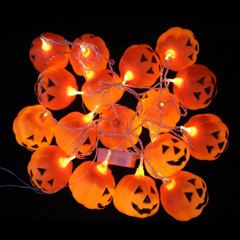 3.8m 16-leds Halloween Pumpkin 3D Jack-O-Lantern LED Flashing String Light Festival Party Decoration Lamp 110V
