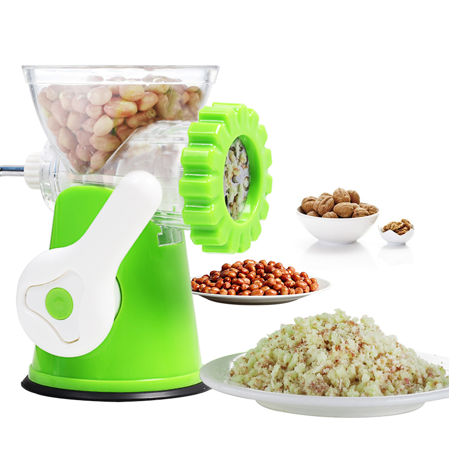 Multifunction Meat Grinder Stainless Steel Blade Cooking Machine Sausage Machine Hand-power Food Chopper Mincer Mixer to Chop fast food leisure fast food equipment stainless steel gas fryer 3l spanish churro maker machine