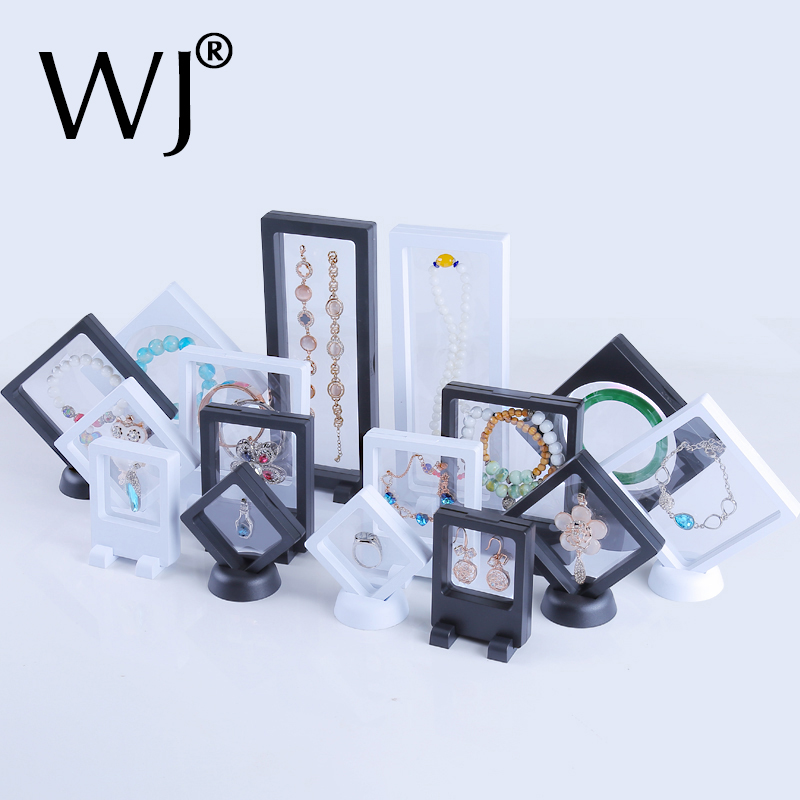 Transparent Acrylic Suspended Jewelry Display Stand Holder Rack For Necklace Pendant Earrings Ring Bracelet Watch Gemstone Case