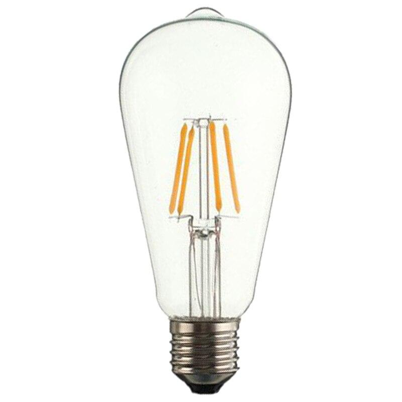 E27 ST64 LED Edison Vintage Light Bulb Candle Light Lamp 4W 5pcs e27 led bulb 2w 4w 6w vintage cold white warm white edison lamp g45 led filament decorative bulb ac 220v 240v