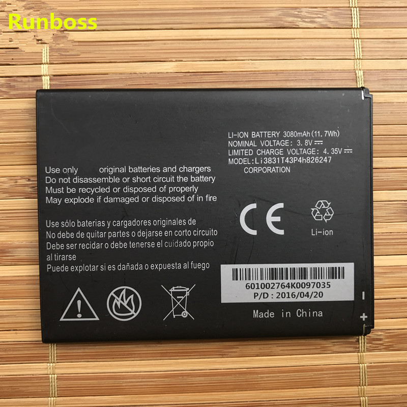 Original High Quality 3080mAh Li3831T43P4h826247 Battery For Cricket ZTE Grand X 3 Z959 Cell Phone image