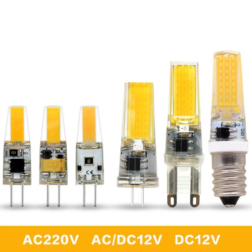 g4 led lamp 6W COB AC/DC12V G9 E14 led lampen 9W COB AC220V lampada led For Crystal Chandelier Replace 30w Halogen Lamp