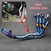 Z900 мотоцикл 304 нержавеющая сталь выхлопная труба глушитель Передняя и средняя труба полная система модифицированная для Kawasaki Z 900 Z900
