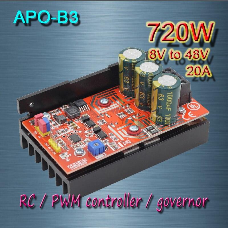 frete gratis apo b3 dc motor de escova 20a esc pwm controlador rc controlador de velocidade