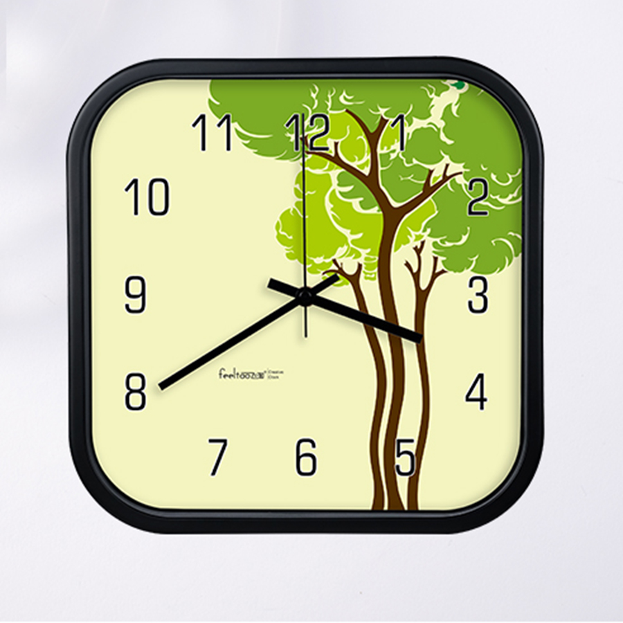 Modern Design Plastic Wall Clock Digital Glass Large Square Clock Movement Electronic zegary Big Wall Watches Home Decor 50ZB030