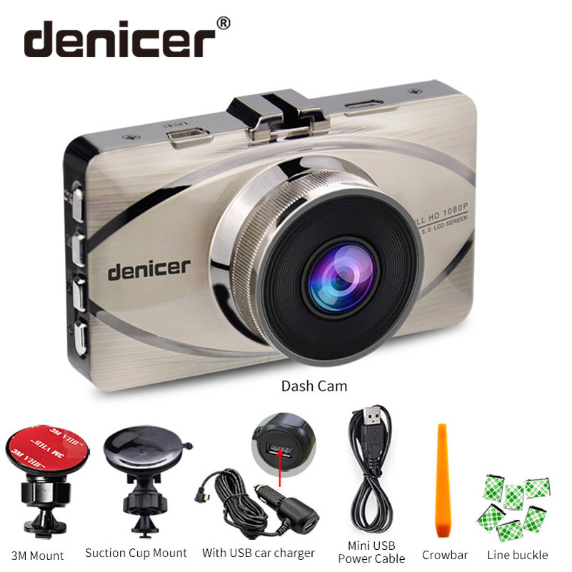 Denicer Car DVR Novatek 96655 Camera Full HD 1080P Auto Vehicle Video Recorder Registrar 170 Degree Wide-angle Dash Camera