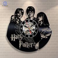 Harry Potter Hermione Granger Movies Vinyl Record Wall Clock Home Design Room Art Decoration Handmade Vintage