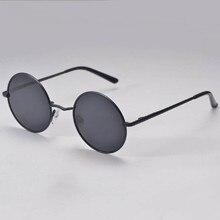 New Hippie Women Men HD Sunglasses Retro Round Lens Metallic Reflective Mirror Sun Glasses Oculos De Sol Feminino Masculino