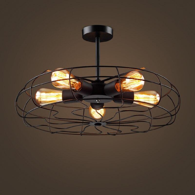 Entrepôt Loft rétro ventilateur pendentif lampes de balcon industriel européen vent chambre salon café pendentif lumières
