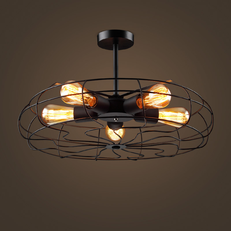 Warehouse Loft Retro Fan Pendant Lamps Of European Industrial Wind Balcony Bedroom Living Room Cafe Pendant Lights