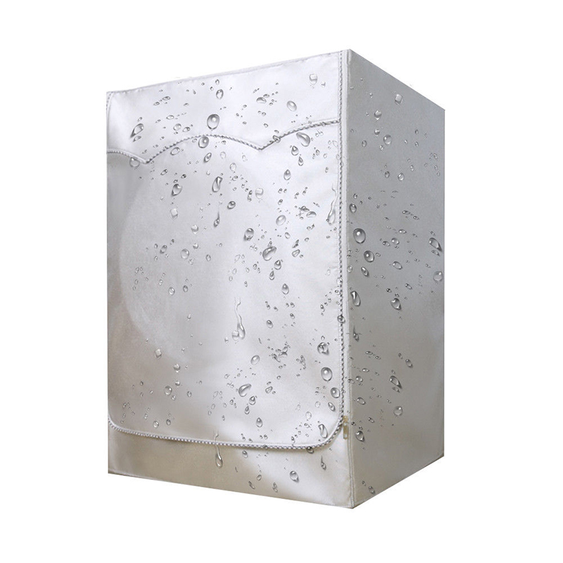 Waterproof And Dustproof Washing Machine Cover Made Of Silver Coating Oxford Cloth Material For Interior Design