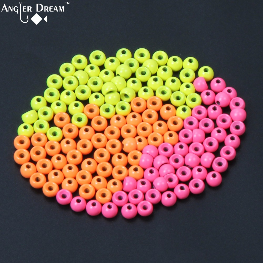 Tungsten Fly Tying Beads Fly Fishing Nymph Head Ball Beads 50pcs / lot Orange Yellow Pink Bead tungsten alloy steel woodworking router bit buddha beads ball knife beads tools fresas para cnc freze ucu wooden beads drill