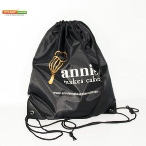 100 unids/lote de bolsas de tela con cordón personalizadas para niños con impresión de logotipo, bolsa de mochila de cuerda para niñas