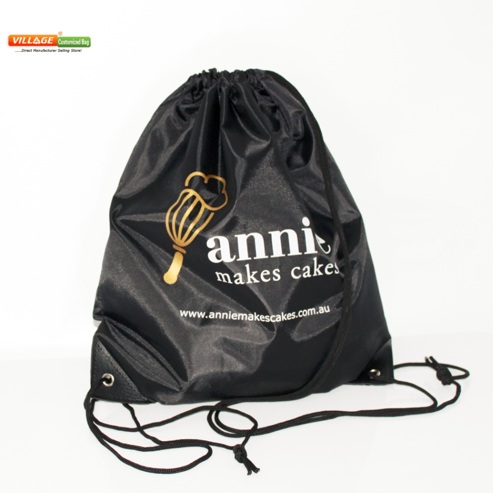 100pcs/Lots Custom Kids Cloth Drawstring Bags with Printing Logo String Backpack Bag For Girls